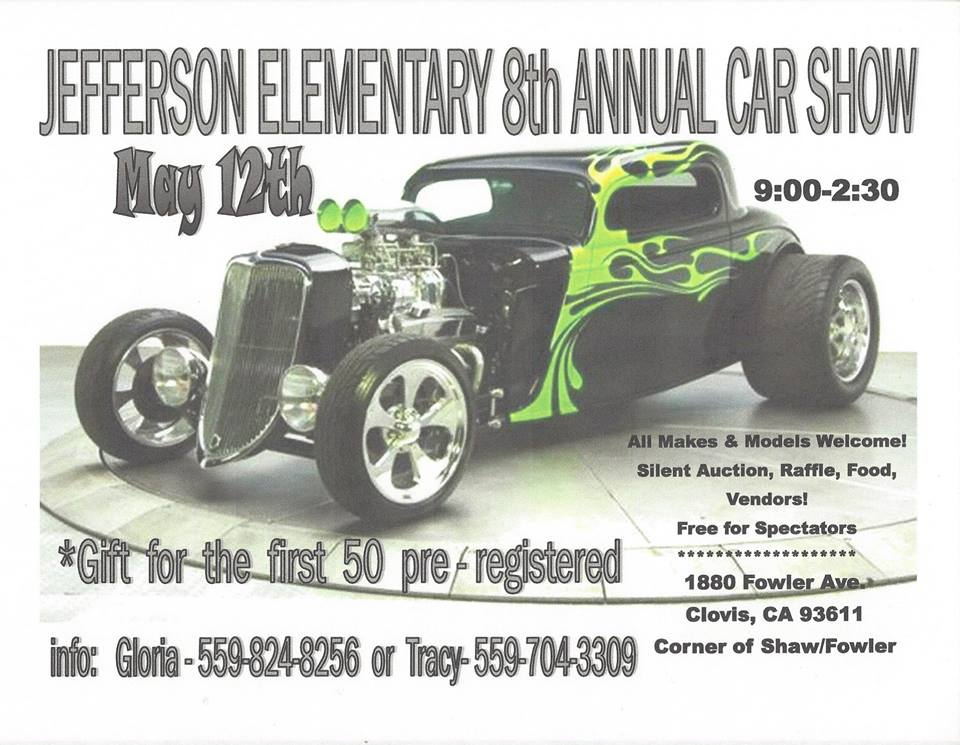 Jefferson Elementary News Article - Jefferson car show