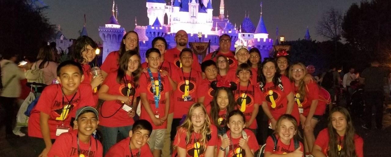 Students at Disneyland