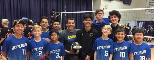 Jefferson Boys Volleyball team 2019